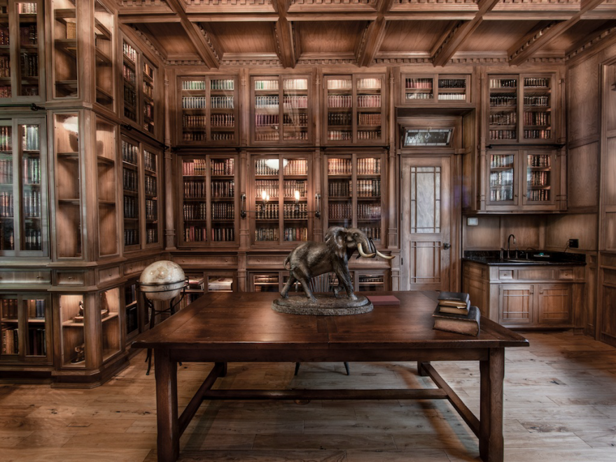 Jim Cardon S Stunning Custom Built Library Inspired By