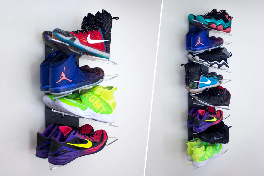 A Shoe Storage System Designed For Sneaker Collectors And