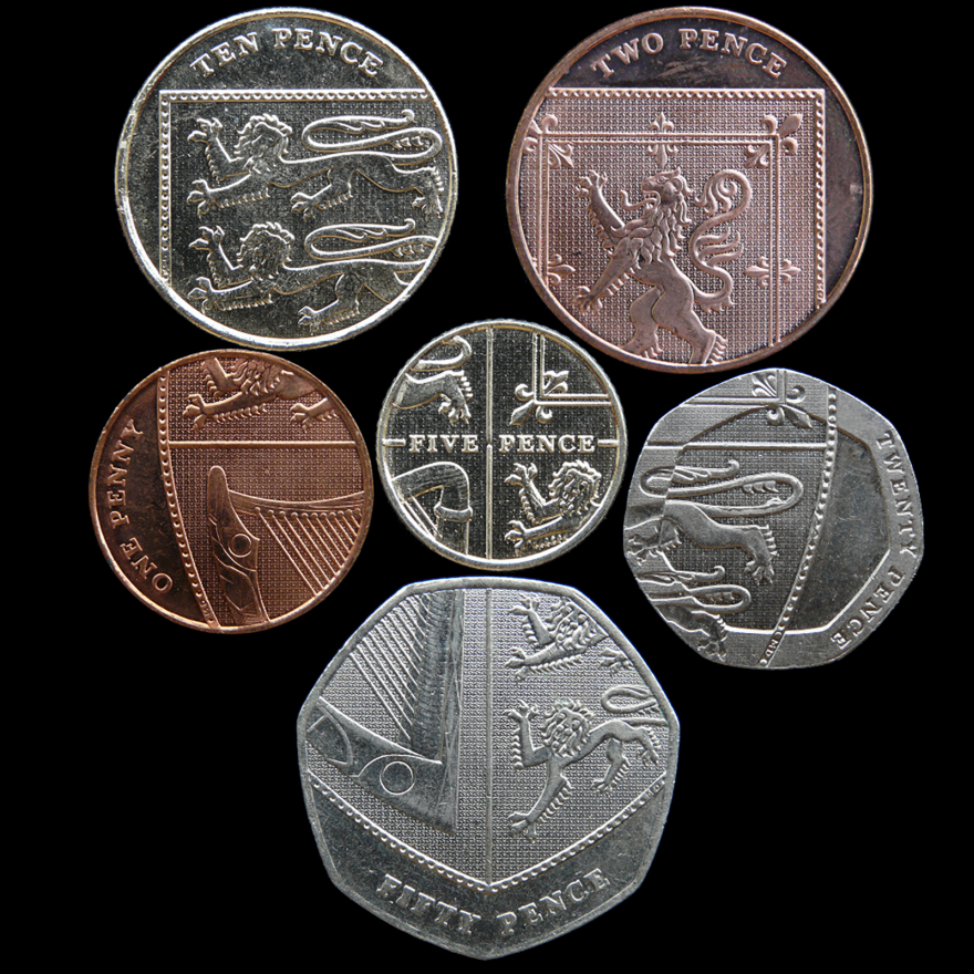 Who Knew? British Coins Form a Coat of Arms When Arranged Together