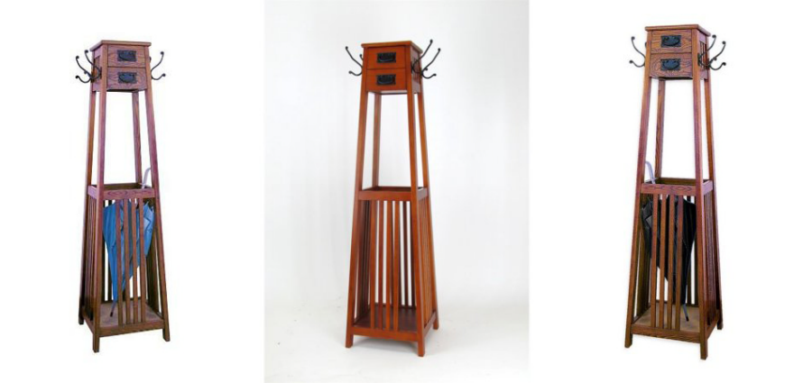 free standing coat rack Unusual Furniture Design: A Mission Style Freestanding Coat Rack  free standing coat rack