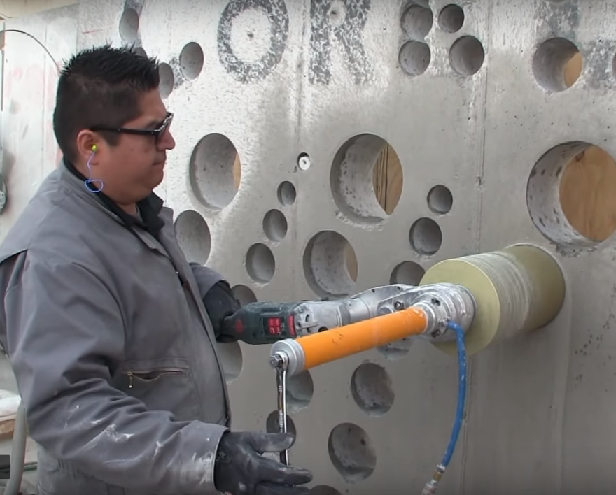 How to Cut Big Holes in Concrete Without a Hose or Cord - Core77