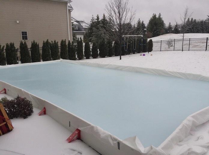Enter a caption (optional) - Student Turned Entrepreneur Develops DIY Backyard Ice Rink System