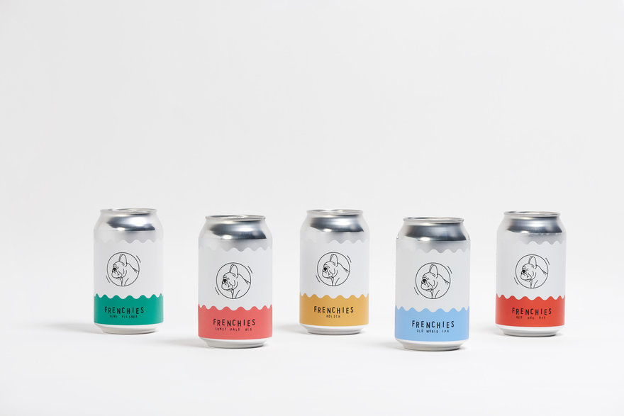 Frenchies Craft Beer Packaging By Ryan Mcgoldrick Core77 Design