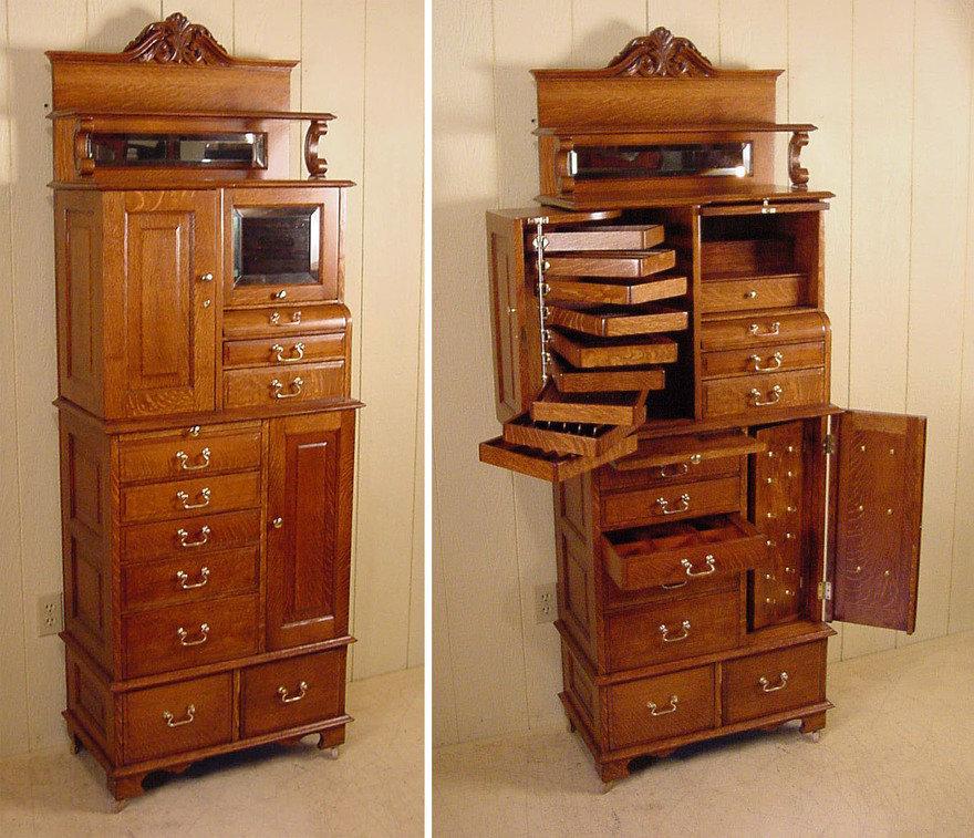 Unusual Vintage Storage Furniture: Dental Cabinets
