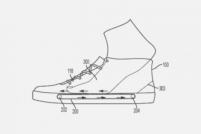 nike file brevetto per mini tapis roulant dentro le scarpe da ginnastica core77