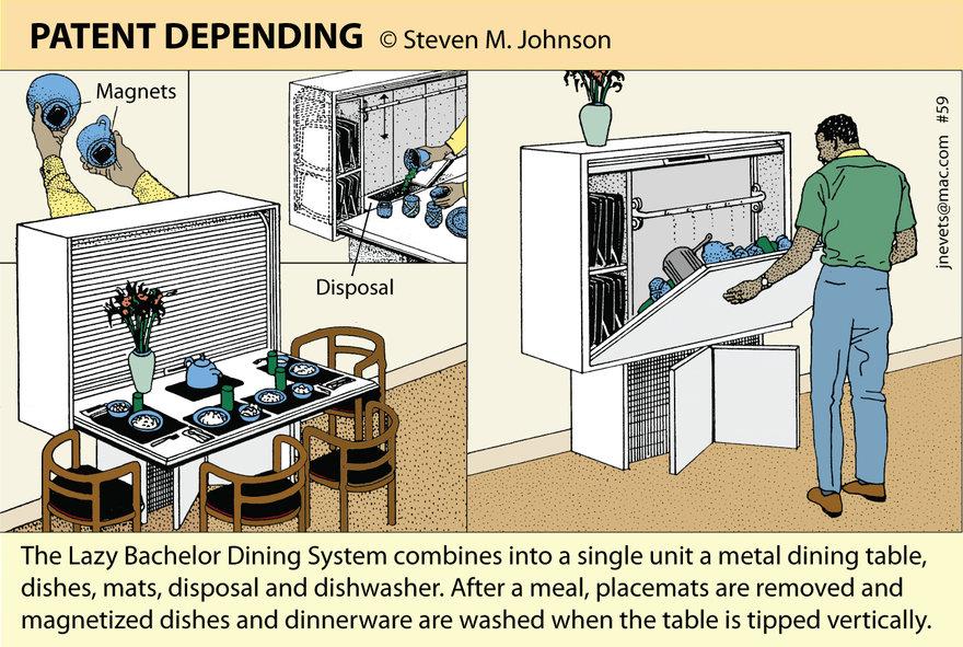 Steven M. Johnson s Bizarre Invention #59: The Bachelor Dining System