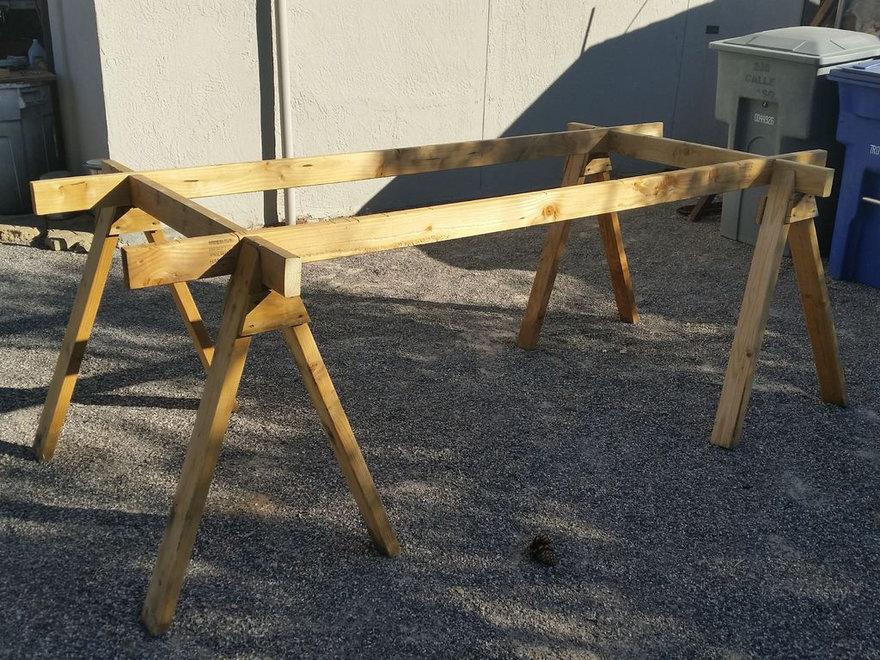 how to build sturdy sawhorses