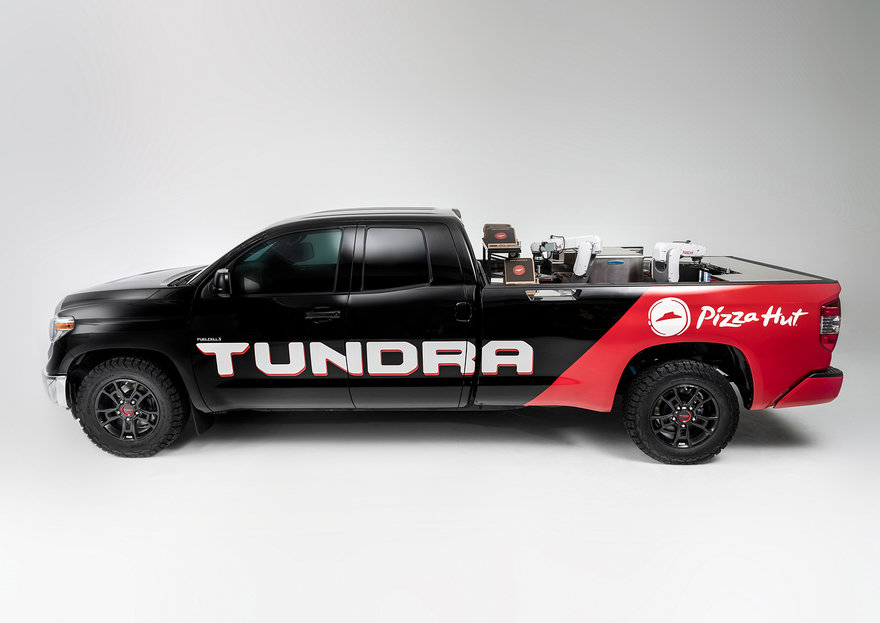 Toyota Develops Full-Size Pickup Truck That Delivers, and Makes, Pizza in Transit
