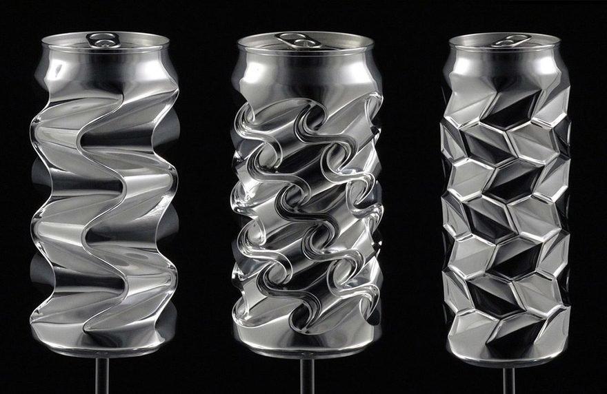 Noah Deledda s Incredible Hand-Formed Aluminum Cans