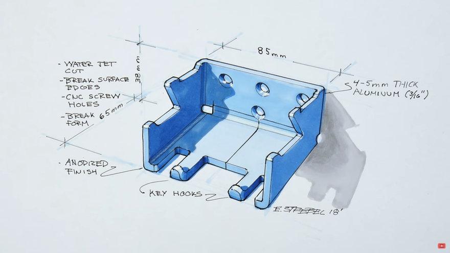Backpack Hanger Mockup Build: Using Matboard to Simulate Folded Sheet Metal Parts