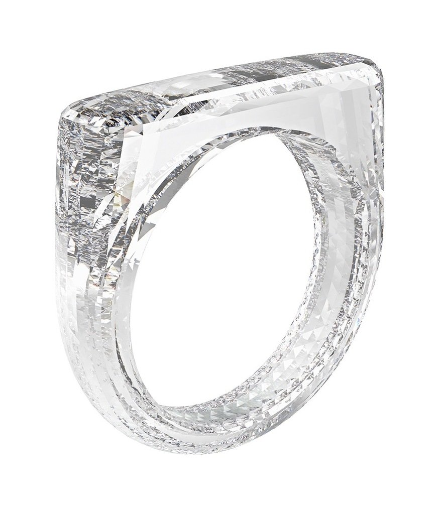 Sir Jony Ive and Marc Newson Co-Design a Diamond Ring Created With a Water Jet and Laser Cutter