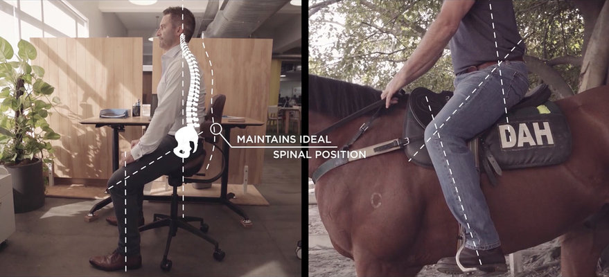 New Ergonomic Chair Design Based on Horse Saddles