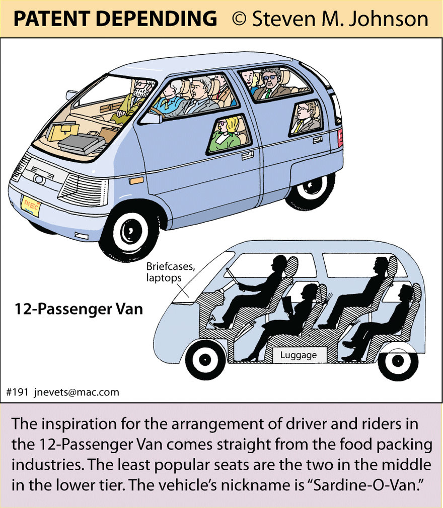 Steven M. Johnson s Bizarre Invention #191: The 12-Passenger Van