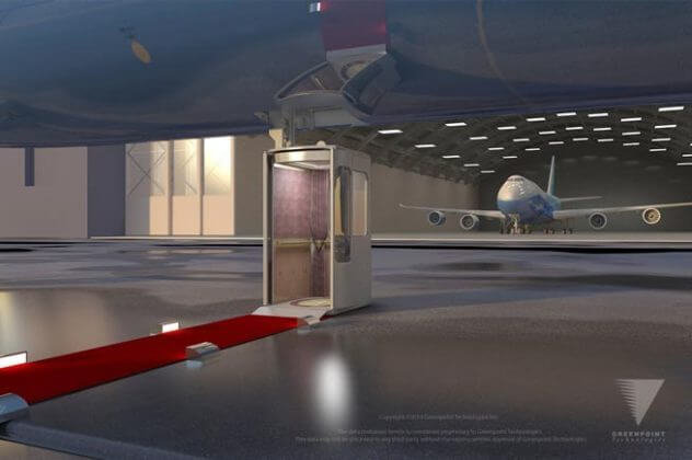 A 747 With an Elevator That Deploys From the Belly