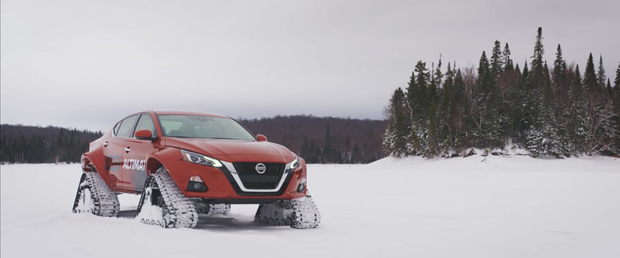 Beyond Snow Tires: Nissan s AWD Altima-te Features Tank Treads