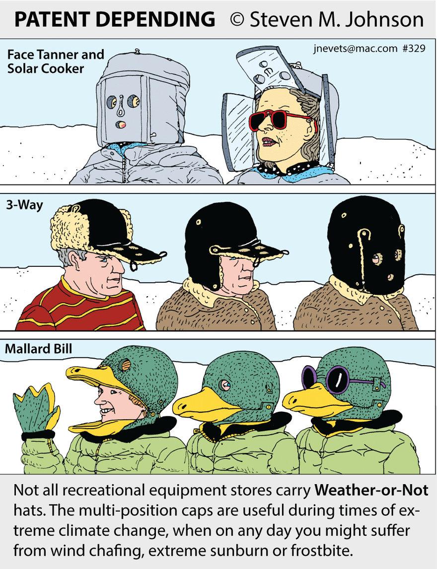 Steven M. Johnson s Bizarre Invention #329: Extreme Weather Hats