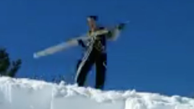 Mystery Tool Used by Yellowstone Workers To Clear Seven Feet of Snow From a Roof in Chunks
