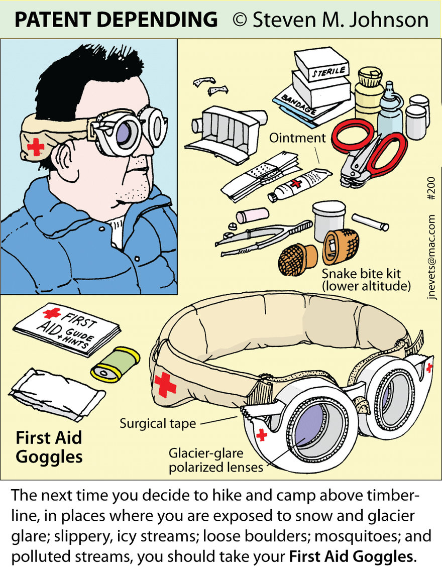 Steven M. Johnson s Bizarre Invention #200: First-Aid Goggles