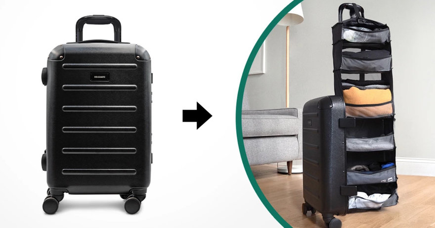 A Rolling Carry-On Designed to be Used Like a Dresser
