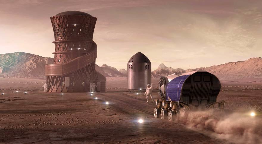 SEArch+ Imagines the Future of Life on Mars