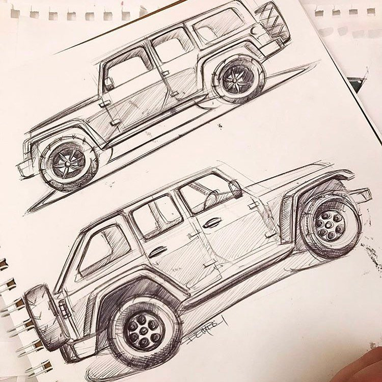 Fanciful Automotive Redesigns (and Sketching Lessons) by The Sketch Monkey
