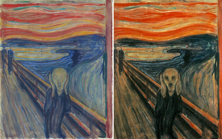 A Compelling Visual Theory that Edvard Munch was Actually Trying to Paint His Dog