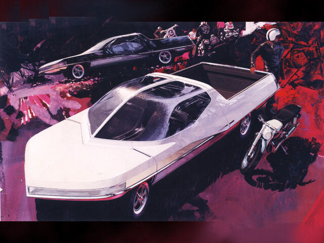 This 1966 Syd Mead Design for Ford Looks Like a Proto-Tesla-Cybertruck