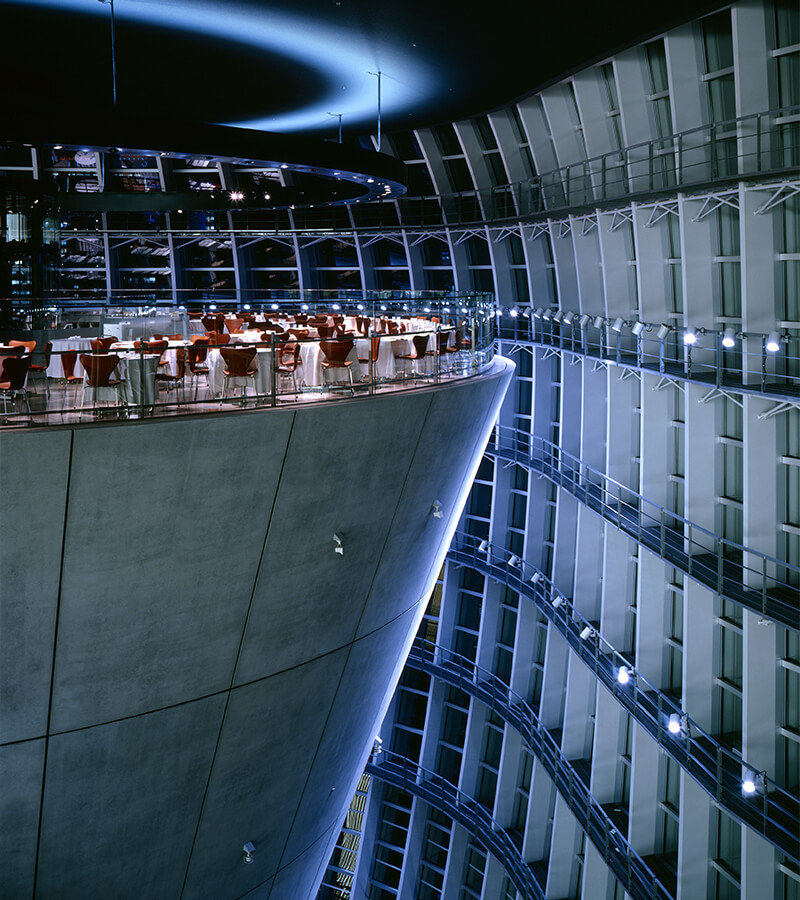 Cool Architectural Interior Feature: This Kind of Looks Like a Fine Dining Restaurant on the Death Star