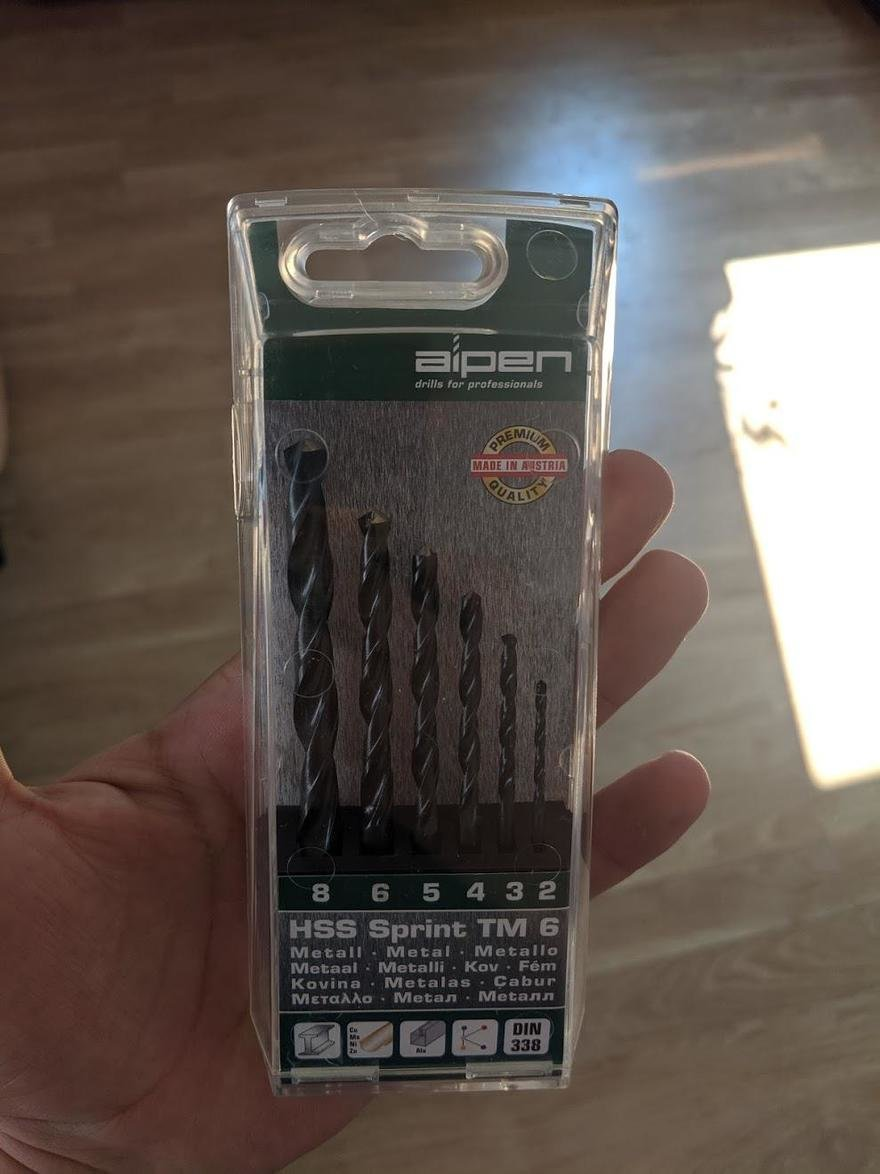 A Nice Package Design Detail in These Alpen Drill Bits