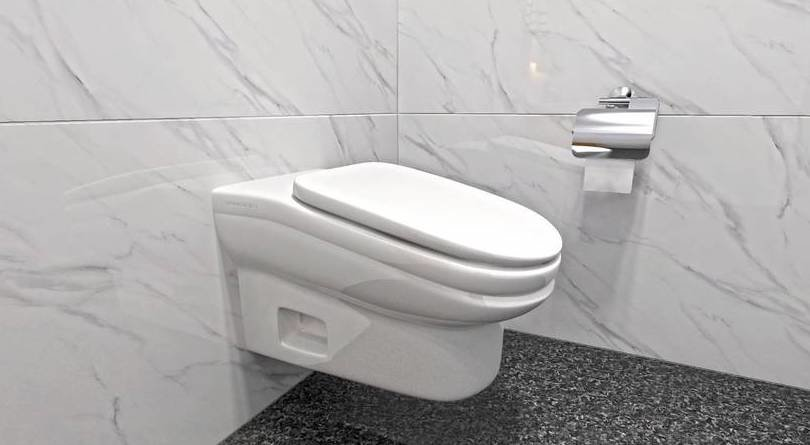 This Slanted Toilet Was Designed to Minimize Bathroom Breaks