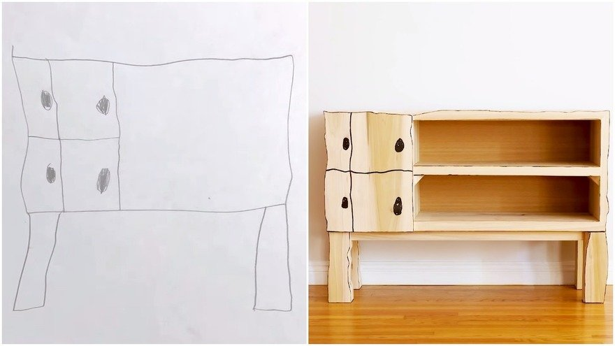 How Woodworker Chris Salomone Turned His Son s Drawing Into a Functional Piece of Furniture