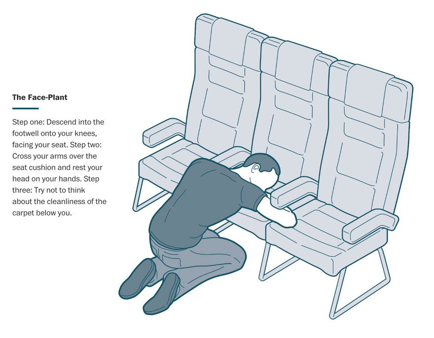WaPo s  Hilarious  Illustrated Encyclopedia of Sleeping Positions on a Plane