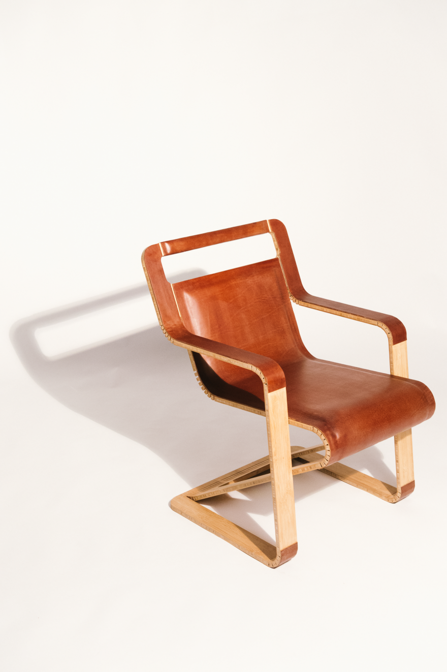 Aviator Chair A Flat Folding Leather Chair Made Using No