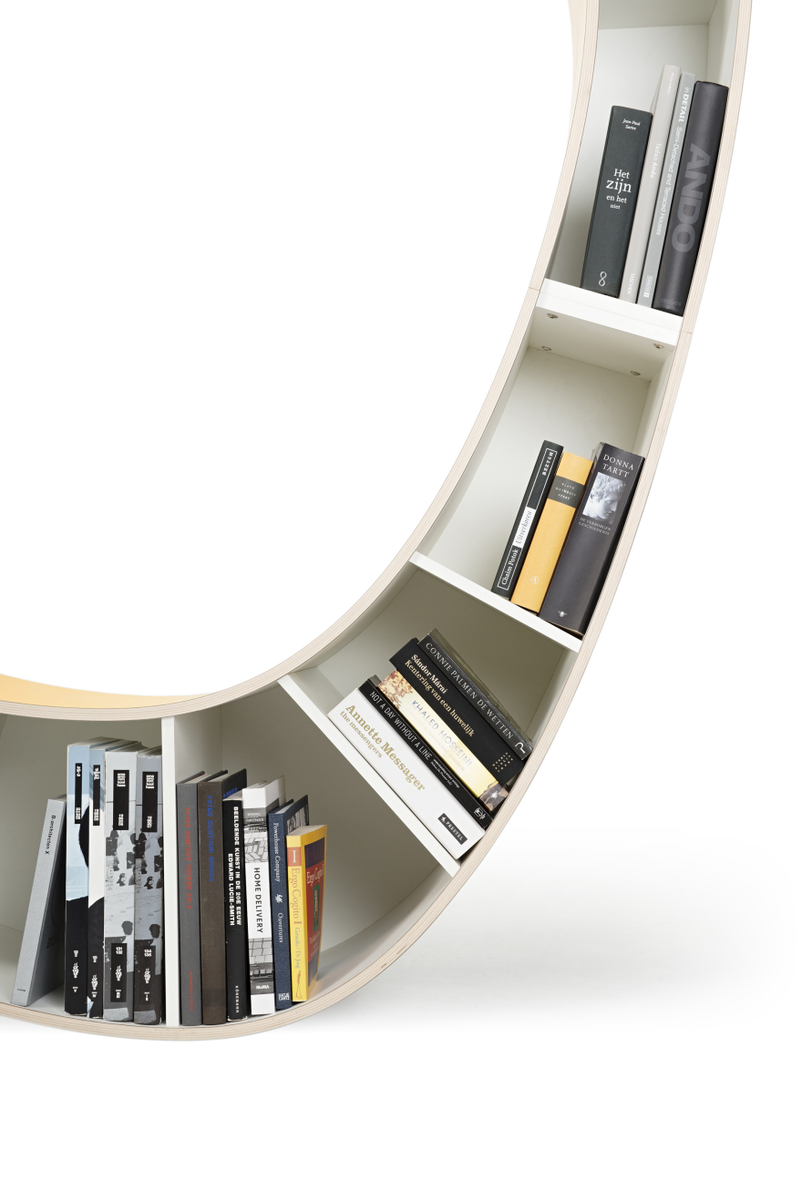 The lower half of the curve creates an ergonomic reading chair. From the top of the bookshelf a single ...  sc 1 st  Core77 & Bookworm: A Bookshelf and Chair in One - Core77