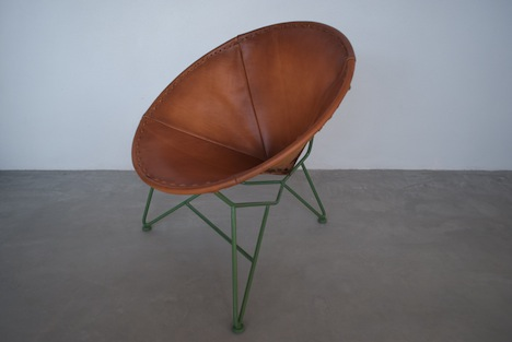 Garza Design + Build Uses The Skeleton Of The Acapulco Chair For Their  Round Leather Chair.