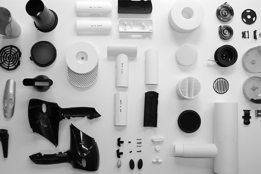 A Hair Dryer Redesigned Using Its Original Parts
