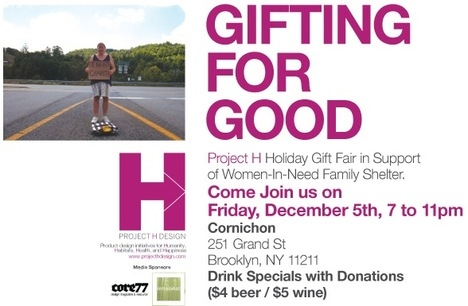 Project H Gifting For Good Party in NY tomorrow! - Core77