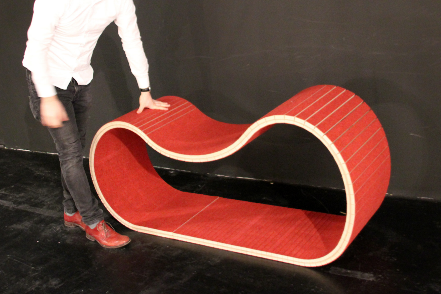 MOTION By Dietmar Hahn And Rio Weber Inspiring The User To Interact With  The Furniture, WOOD.MOTIONcan Be Used To Sit, Lie Down Or Swing On.