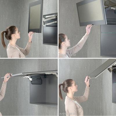 Kitchen Cabinet Door Hinge Systems That Swing Upwards In Fancy Ways Core77