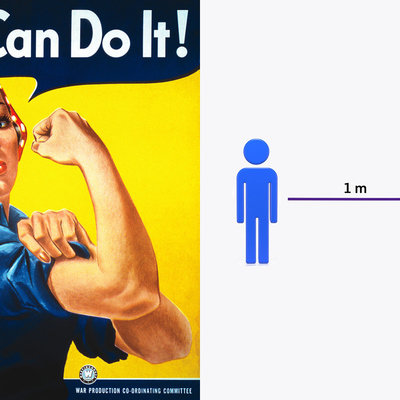 """Will We Have an Iconic Social Distancing Graphic, Like """"Rosie the Riveter?"""" Based on These, Probably Not - Core77"""
