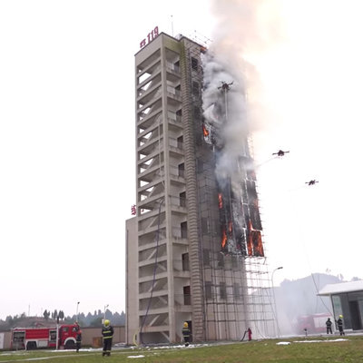 Those Chinese Firefighting Drones Would Only be Effective in Correcting an Architectural Flaw - Core77