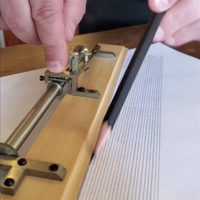 A Vintage Drafting Tool That Walks Across the Paper, Letting You Draw Parallel Lines With Precise Spacing - Core77