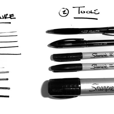Sketching Tutorial: How To Use Line Weight In Your Sketches, 2 Rules & 2 Techniques - Core77