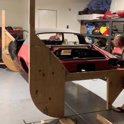 Guy Comes Up With Clever Way to Flip Car On Its Side for Repair Work - Core77