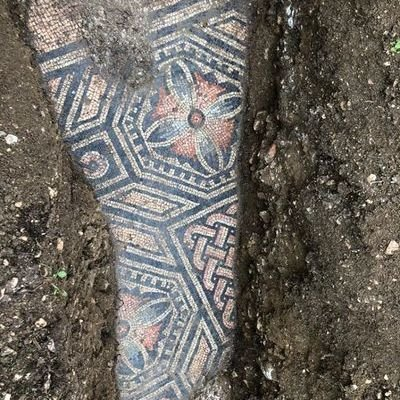 Perfectly Preserved 1,700-Year-Old Roman Mosaic Floor Found Under Vineyard in Italy - Core77