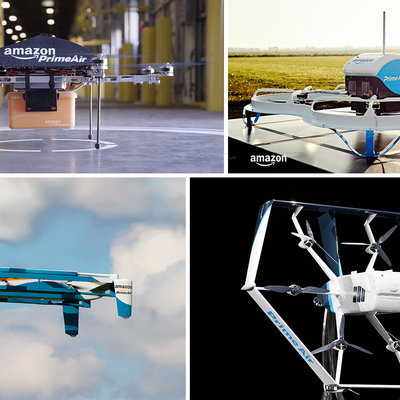 The Evolution of Amazon's Package Delivery Drone Designs  - Core77