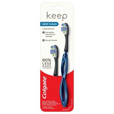Colgate Keep: An Aluminum-Handled Toothbrush with Replaceable Heads - Core77