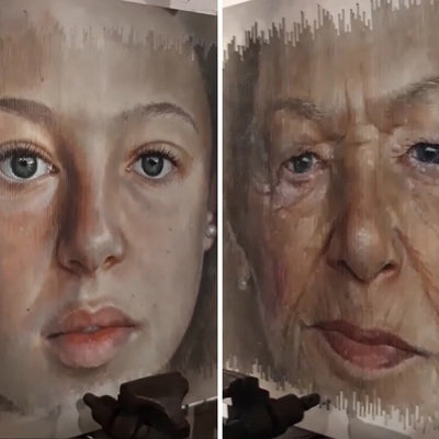 Incredible Lenticular Portraits: The Subject Ages Depending on the Viewing Angle - Core77