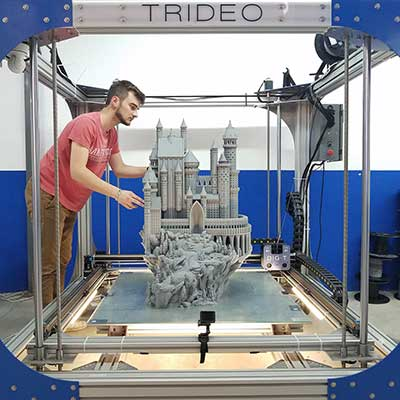 Trideo's Gigantic 3D Printer Has a Build Area of One Square Meter - Core77