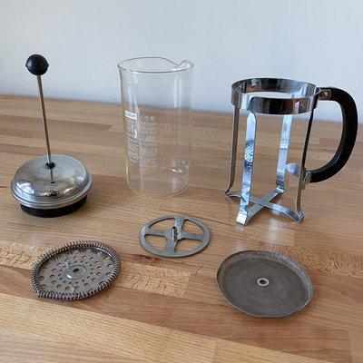 The quick and intuitive disassembly of my French press means that I can easy clean it and replace or recycle its parts as needed.  The stats feel tire